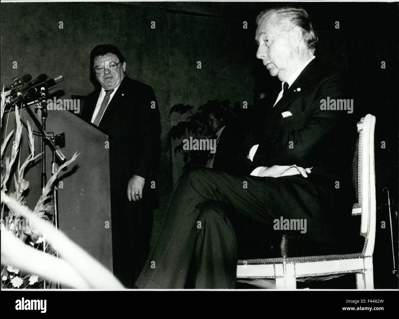 Jan. 09, 1958 - Axel Springer Got The Konrad-Adenauer-Freedom-Award: The Konrad-adenauer-freedom-award of this year - Stock Image
