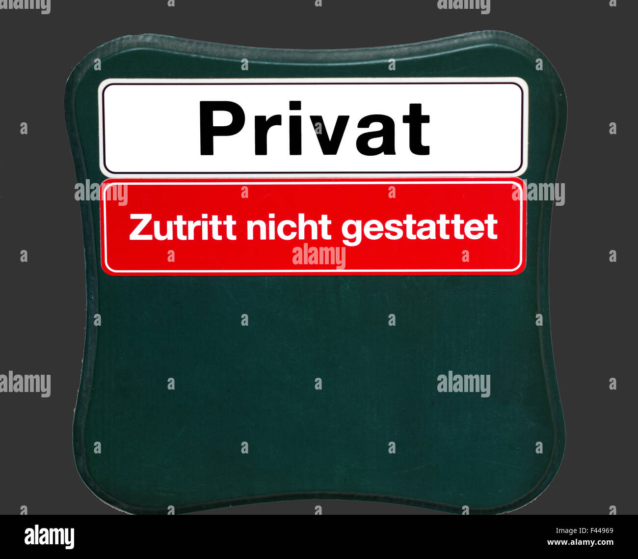 Shield private access not permitted - Stock Image