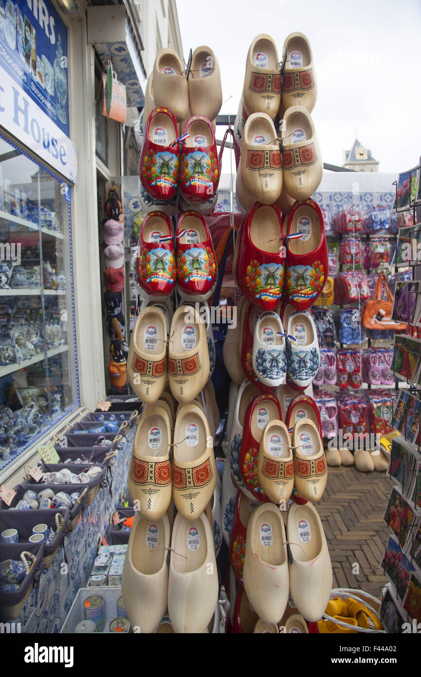 Wooden Shoes A Symbol Of Holland For Sale At A Souvenir Store In
