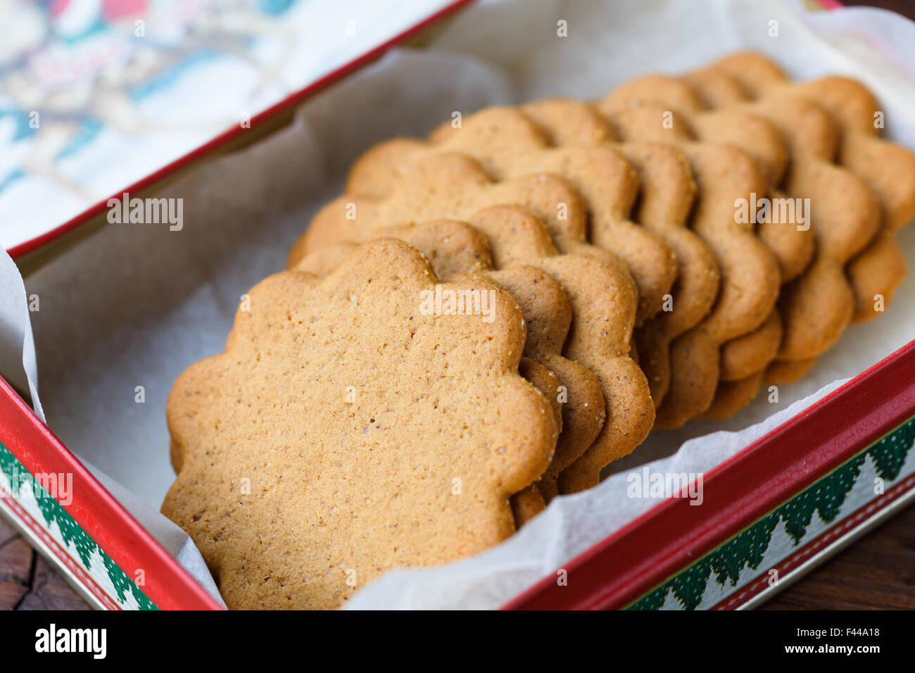 Pepparkakor (Swedish Ginger Cookies) - Stock Image