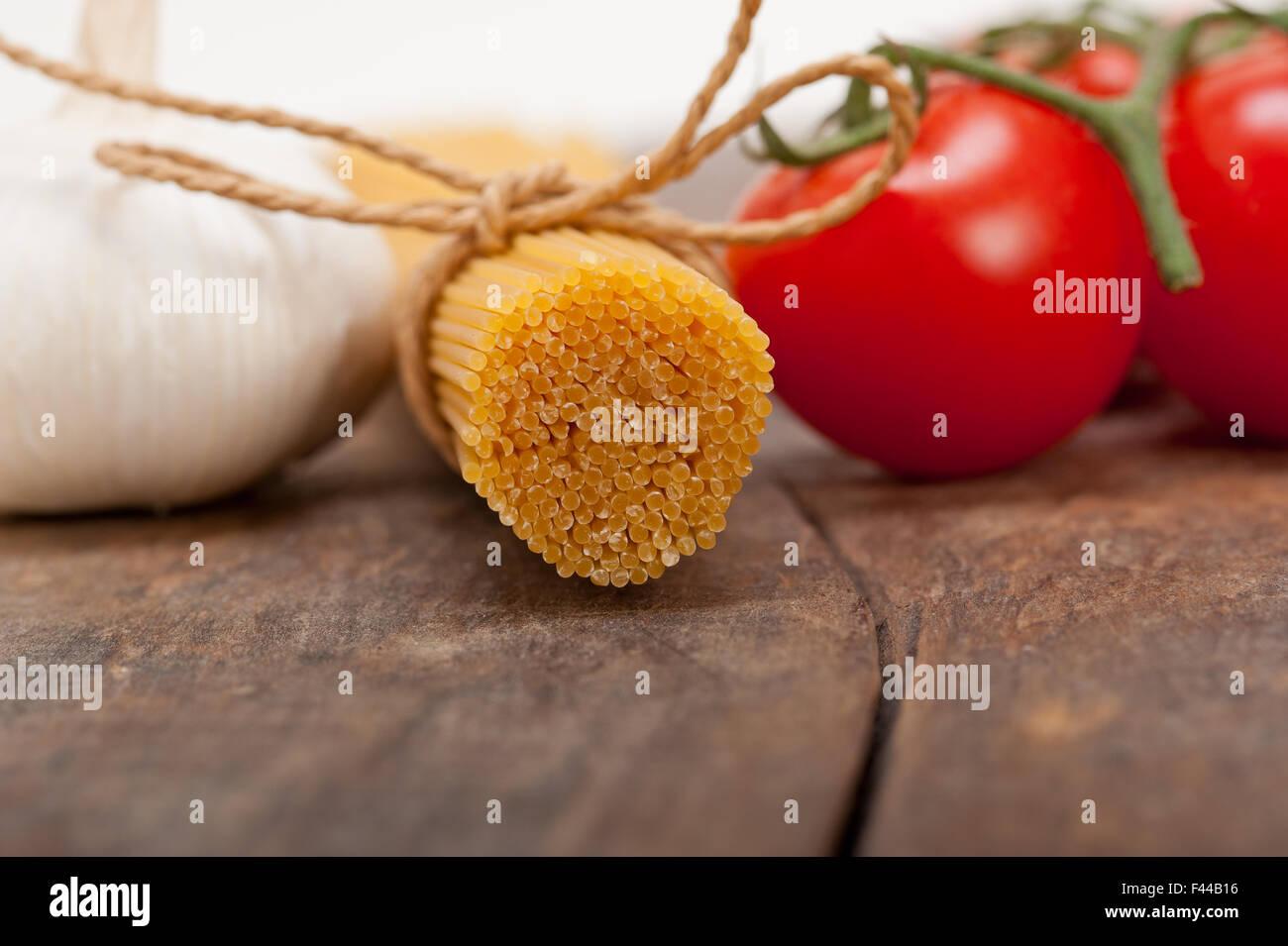 Italian basic pasta ingredients - Stock Image