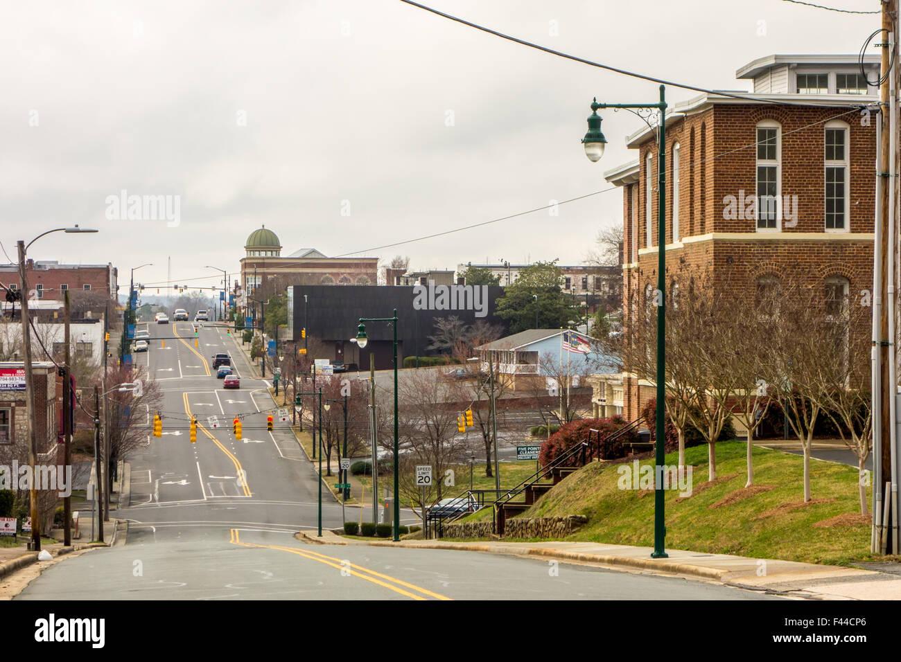 town of albermarle in north carolina - Stock Image