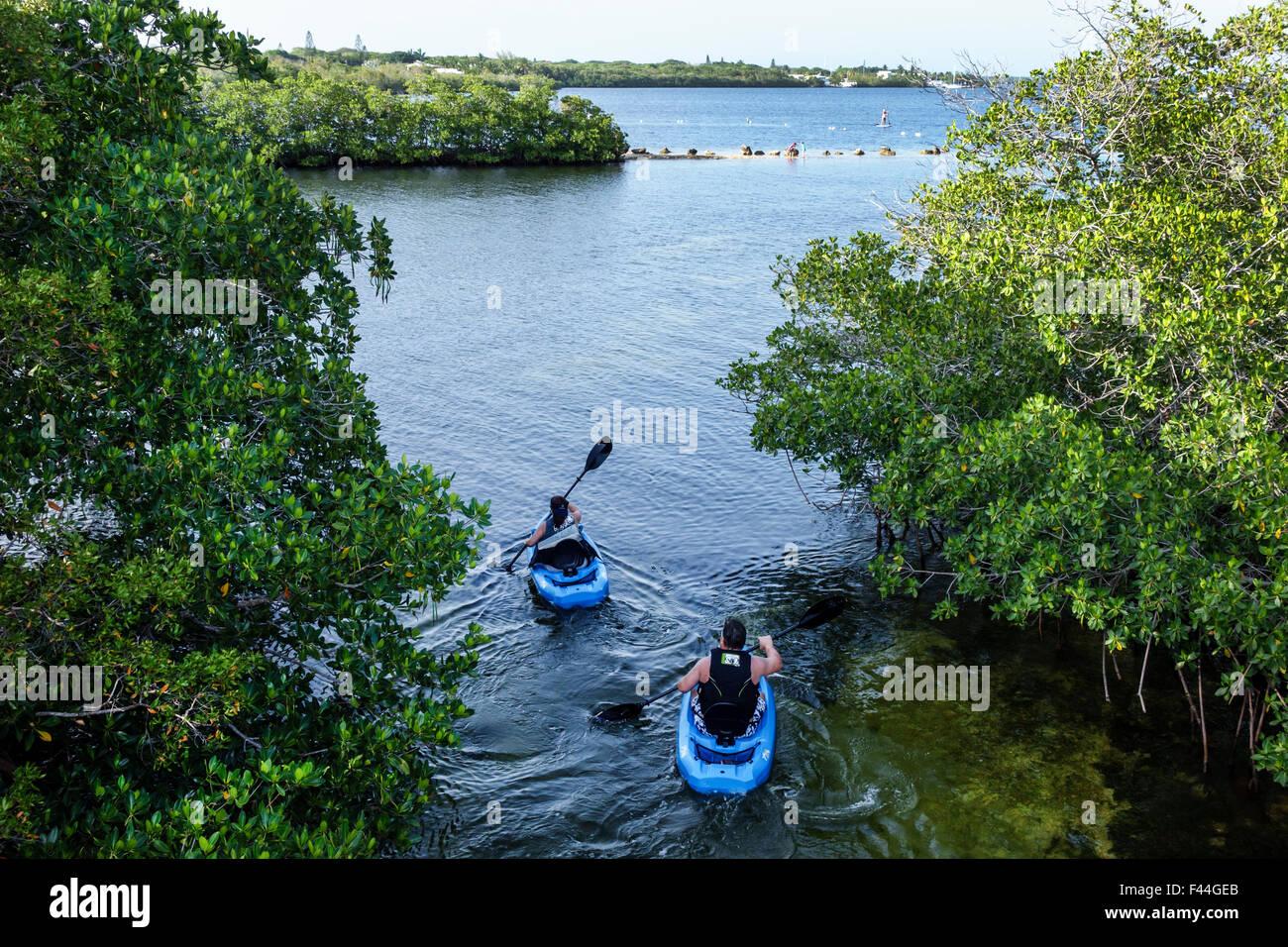 Florida, FL, South, Keys, highway Route 1 Overseas Highway, Key Largo, John Pennekamp Coral Reef State Park, Largo Stock Photo