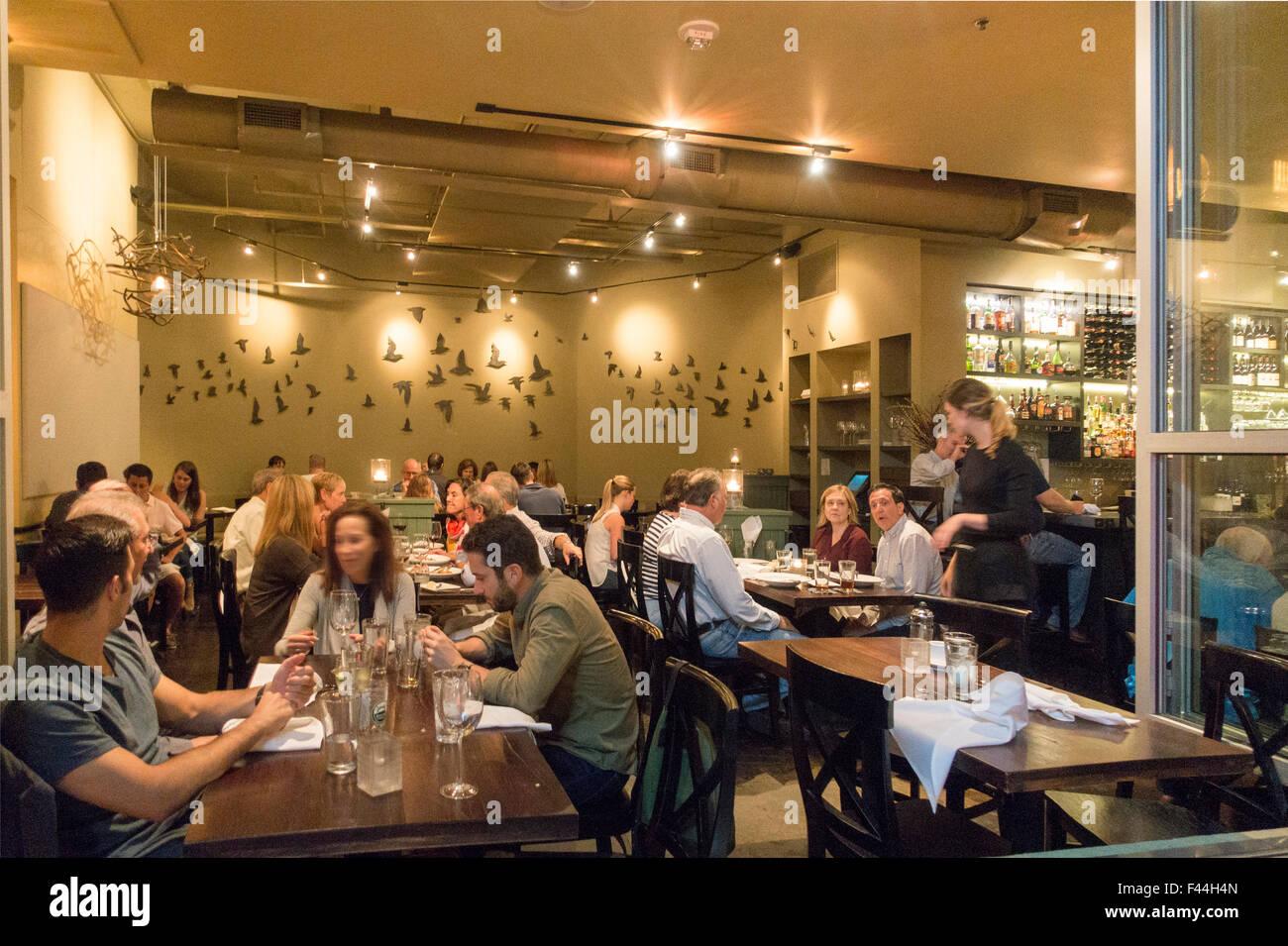 Blackbird Restaurant Asheville North Carolina Stock Photo