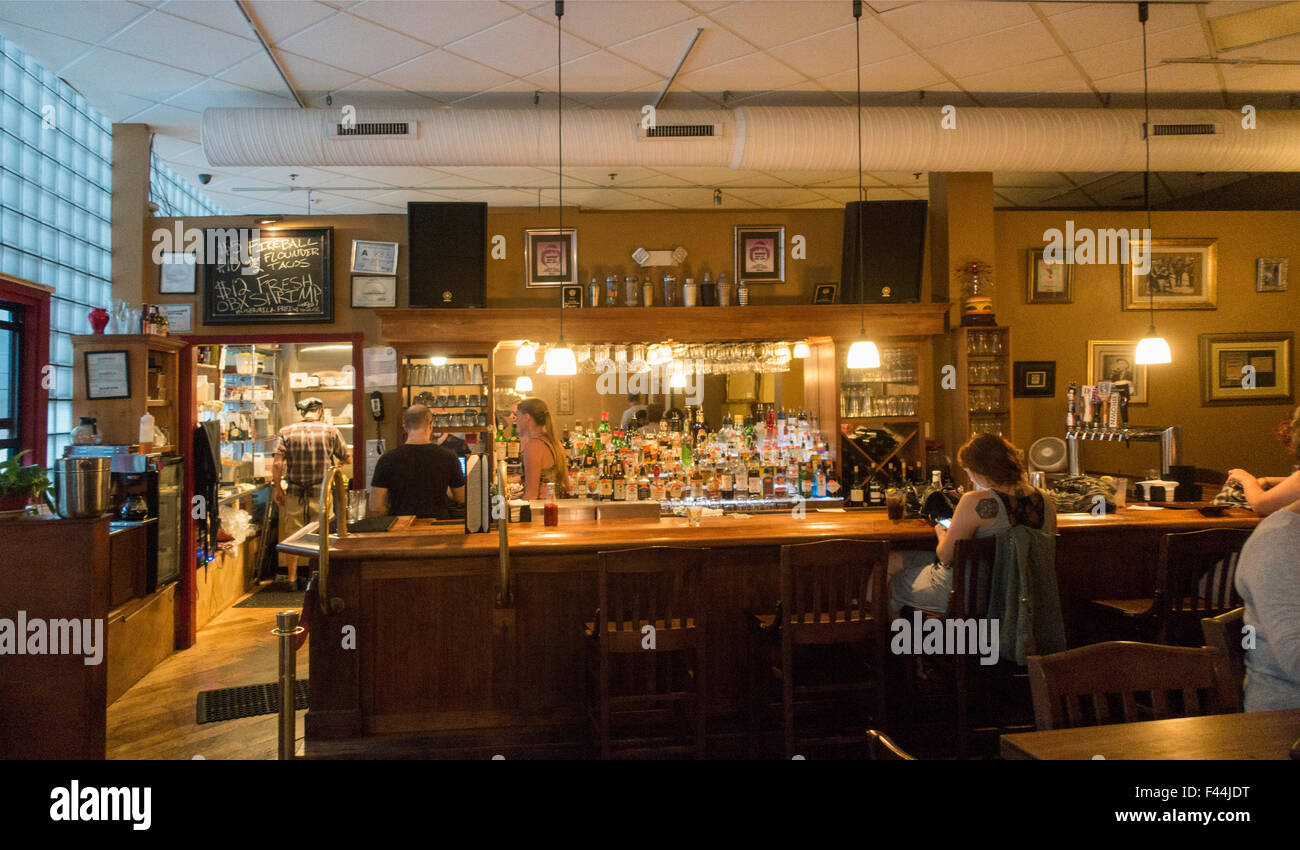 Rankin Vault cocktail lounge Asheville North Carolina - Stock Image