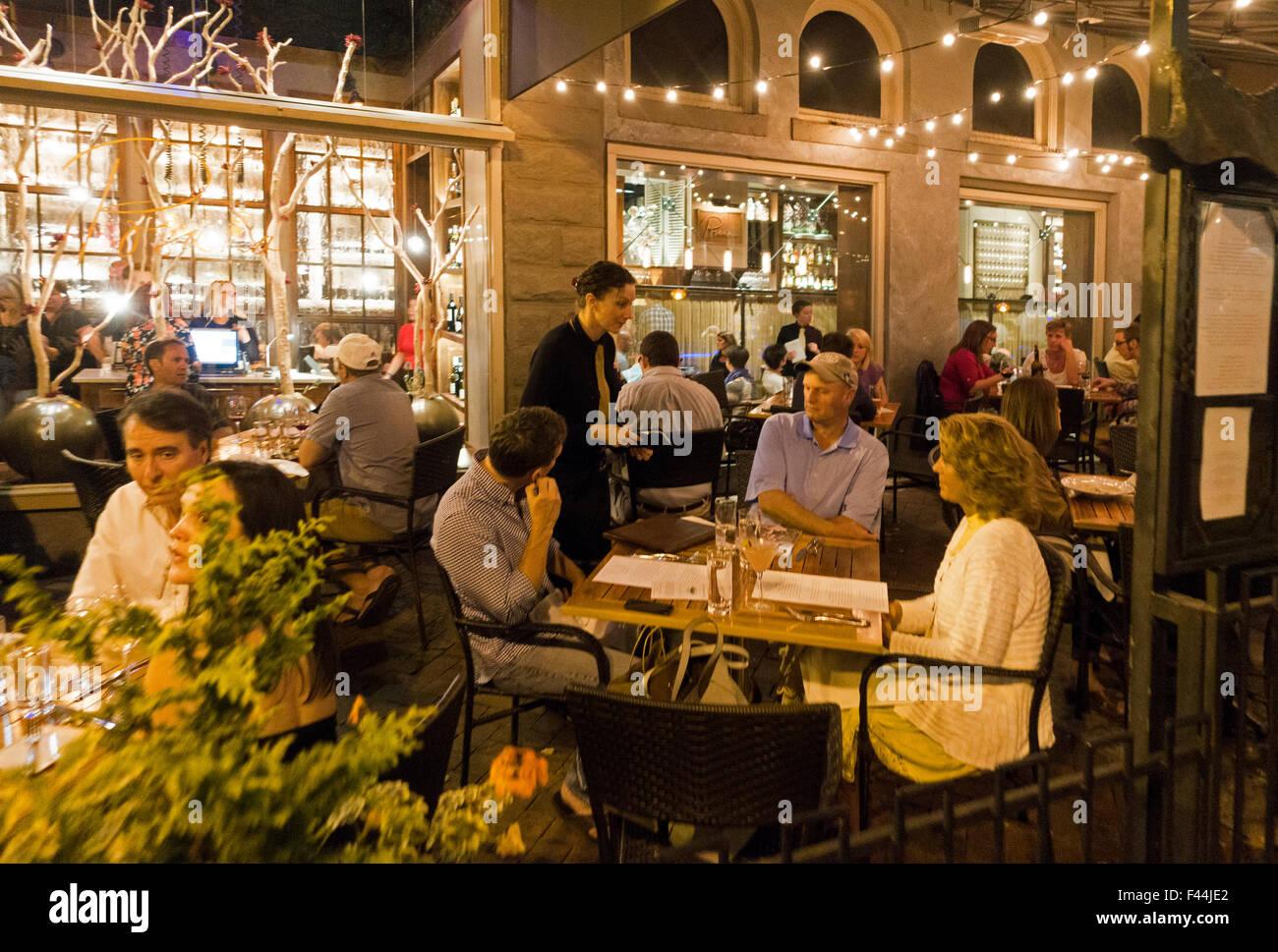 Downtown Restaurant Asheville North Carolina Stock Photo