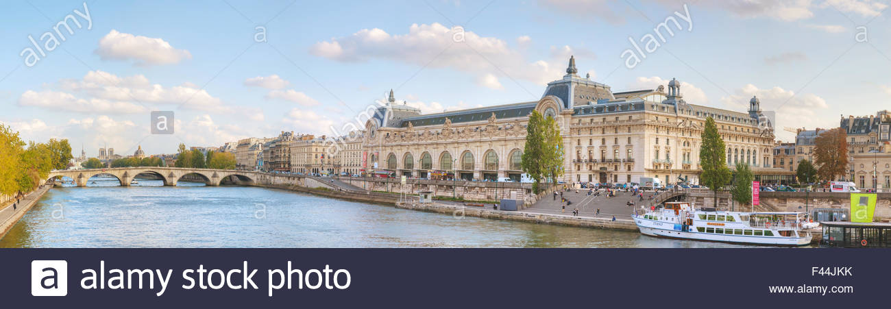 D'Orsay museum building in Paris, France - Stock Image