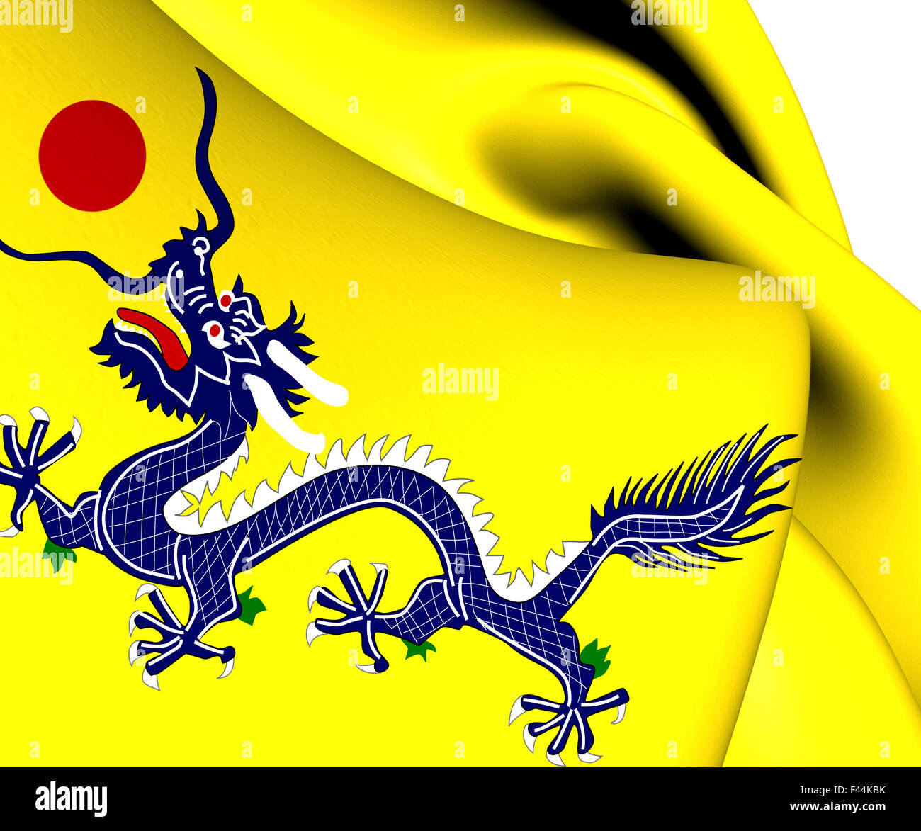 flag of qing dynasty stock photo 88613495 alamy