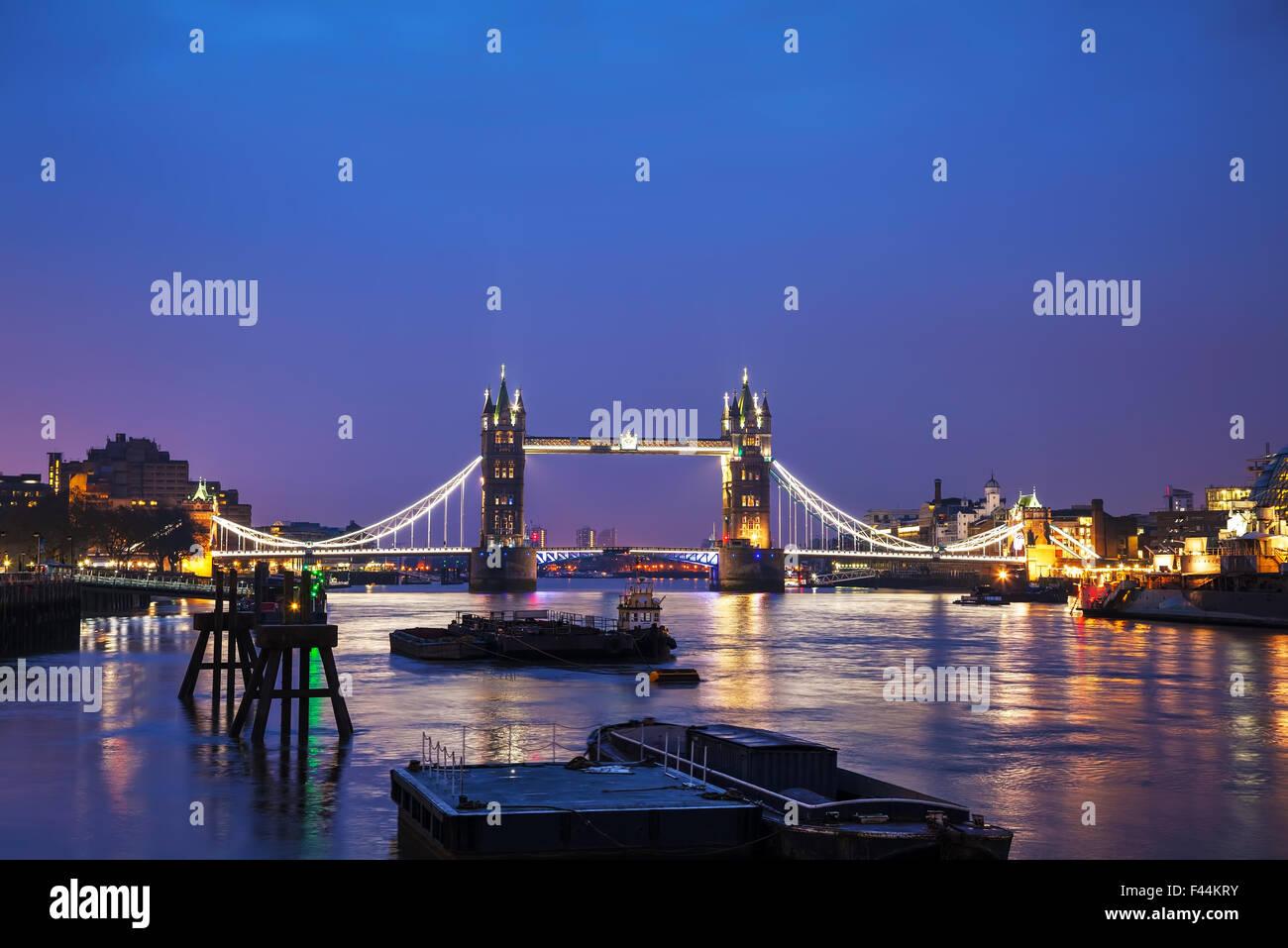 Tower bridge in London, Great Britain - Stock Image