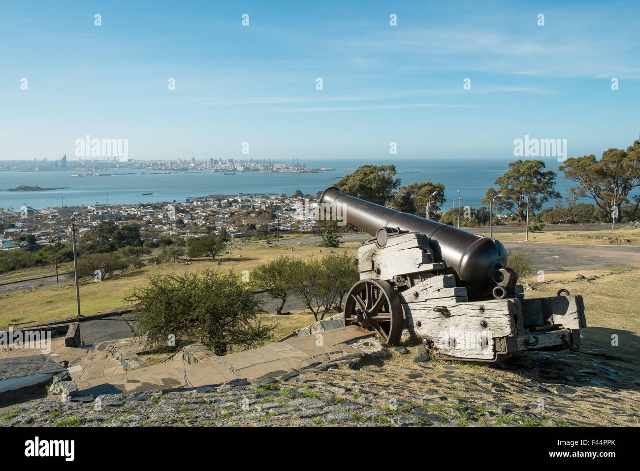 Montevideo as seen from its fortress hill - Stock Image