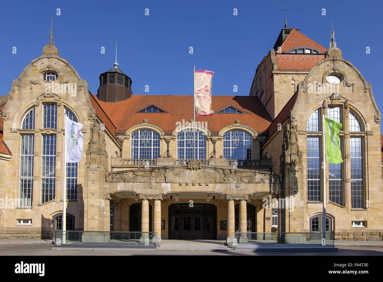 the Festhalle Landau Stock Photo