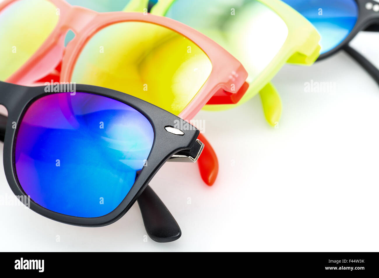 Few Very Bright Sunglasses Eyewear - Stock Image