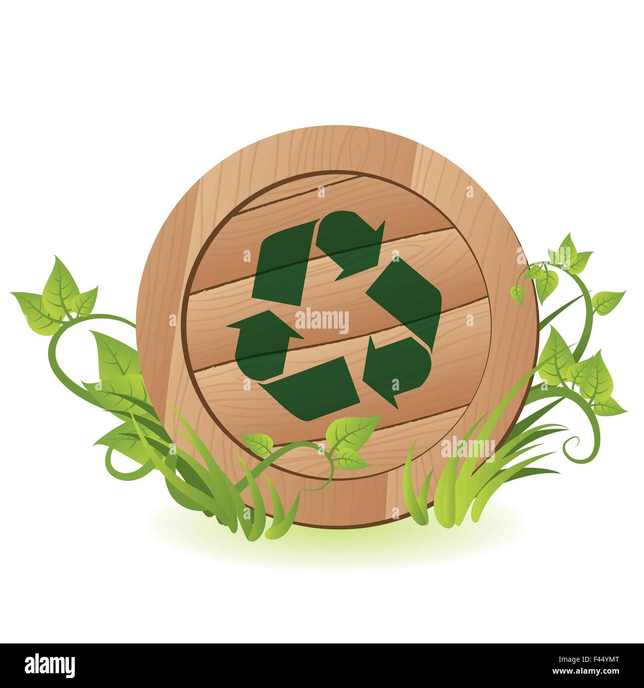 Recycle sign - Stock Image