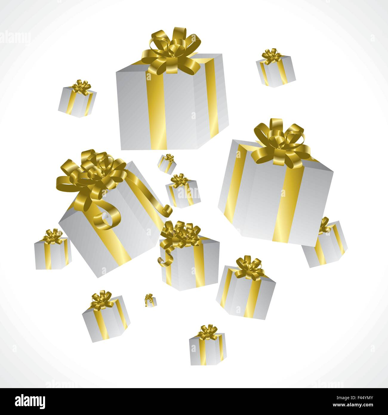Rain of presents Stock Vector