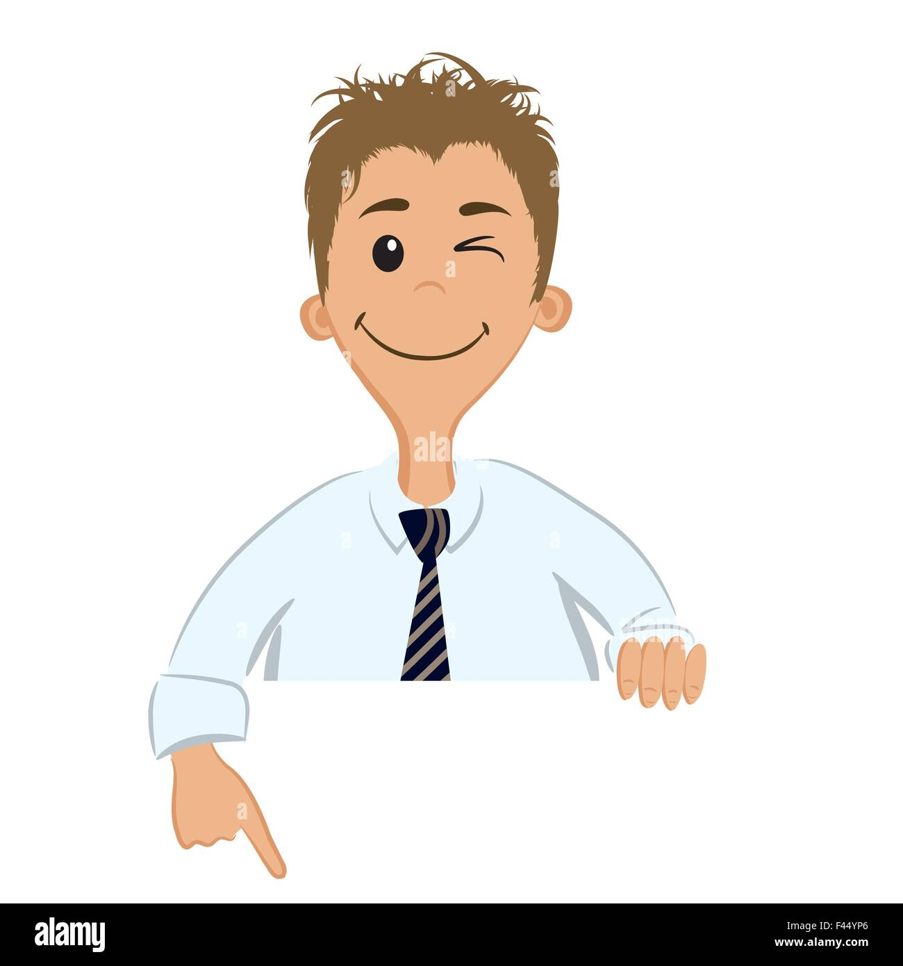 Businessman showing something - Stock Vector