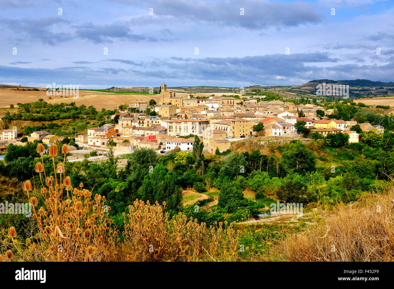 View of Torres del Rio, Navarre, Spain Stock Photo