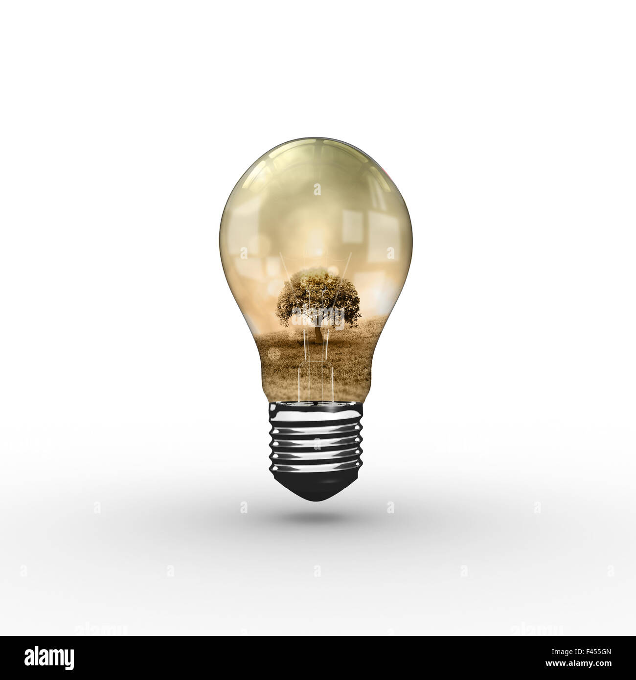 Composite image of empty light bulb - Stock Image