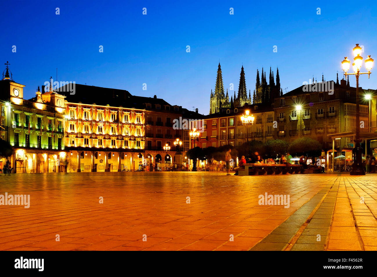 View of Plaza Mayor, Burgos, Castile and León, Spain - Stock Image