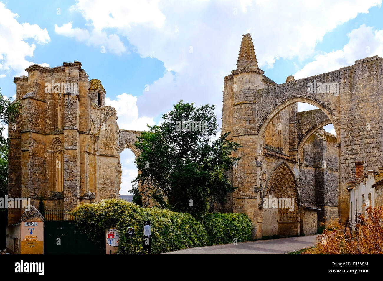 Ruins of the San Anton convent, Castrojeriz, Castile and León, Spain - Stock Image
