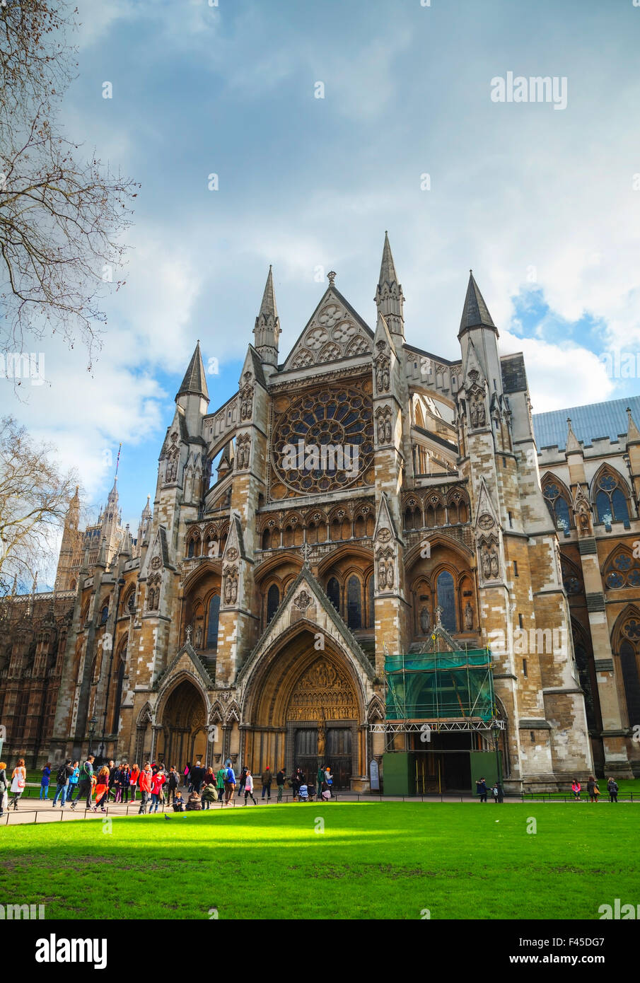 Westminster Abbey church in London Stock Photo