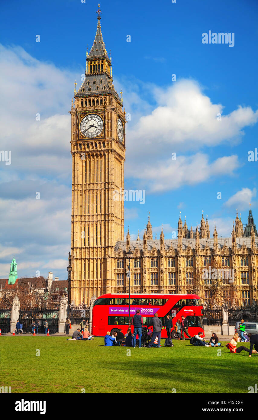 Parliament square in city of Westminster - Stock Image