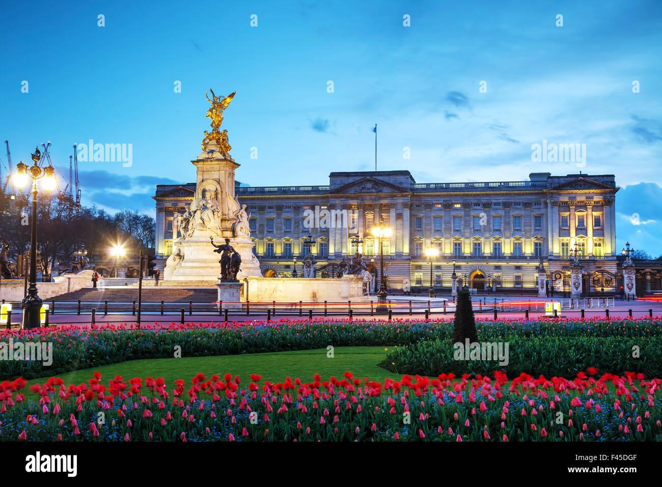 Buckingham palace in London, Great Britain - Stock Image