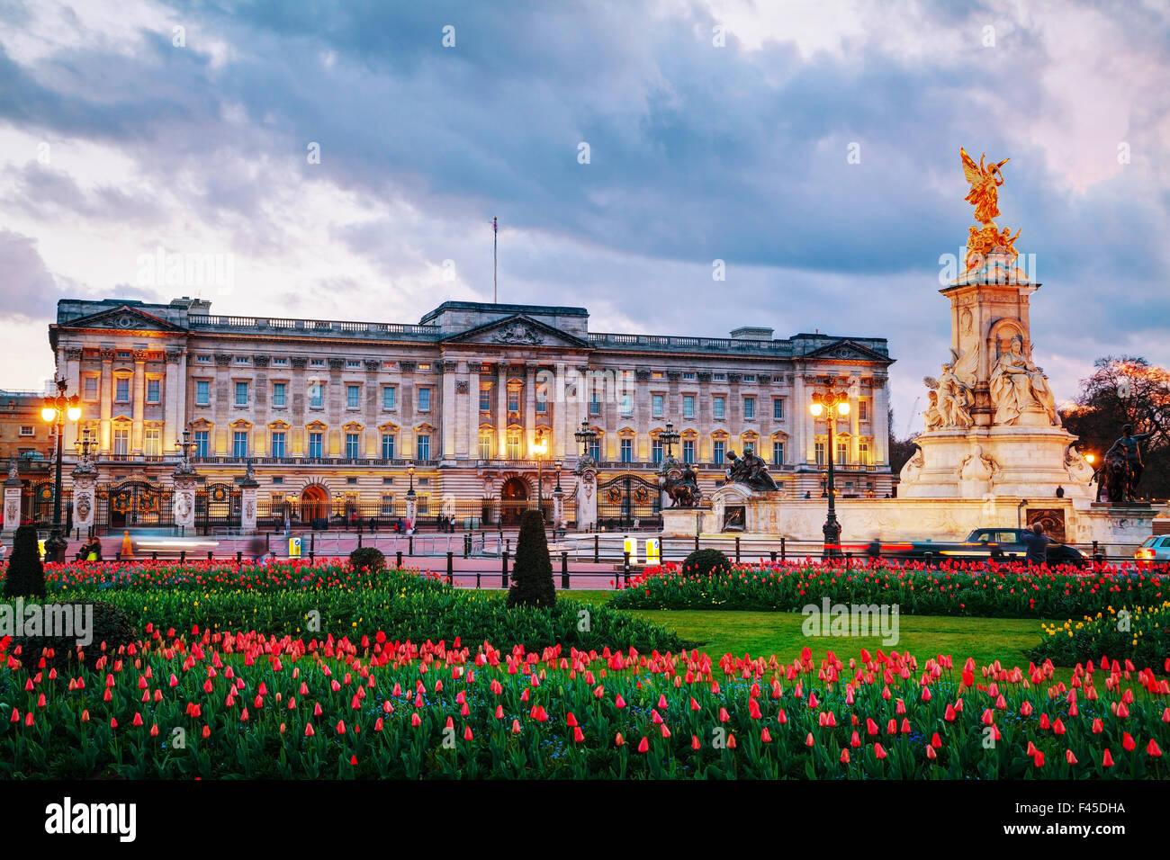 Buckingham palace in London, Great Britain Stock Photo