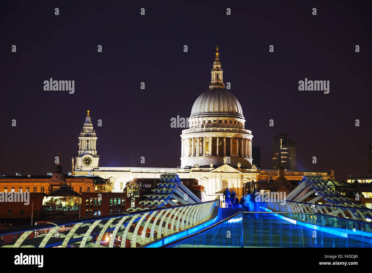 Saint Pauls cathedral in London - Stock Image