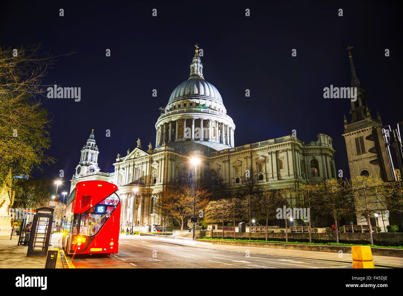 Saint Pauls cathedral in London Stock Photo