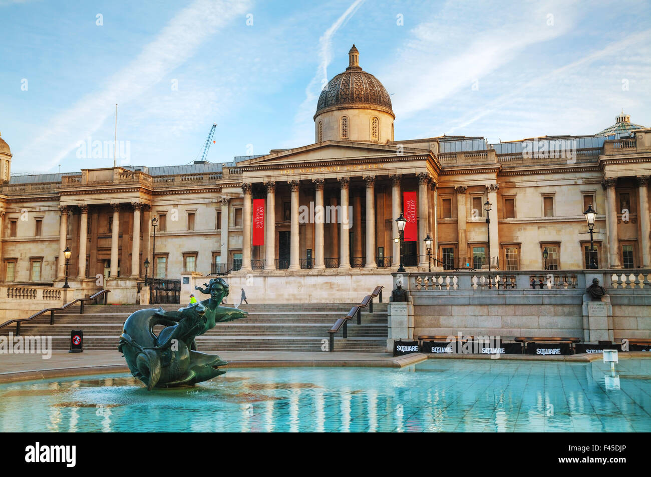 National Gallery building in London - Stock Image