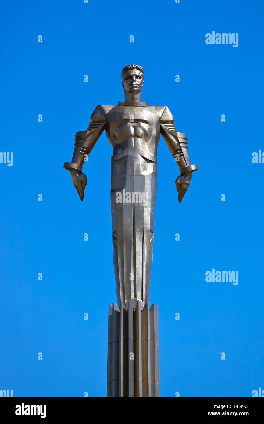 Yuri Gagarin monument - Moscow Russia - Stock Image