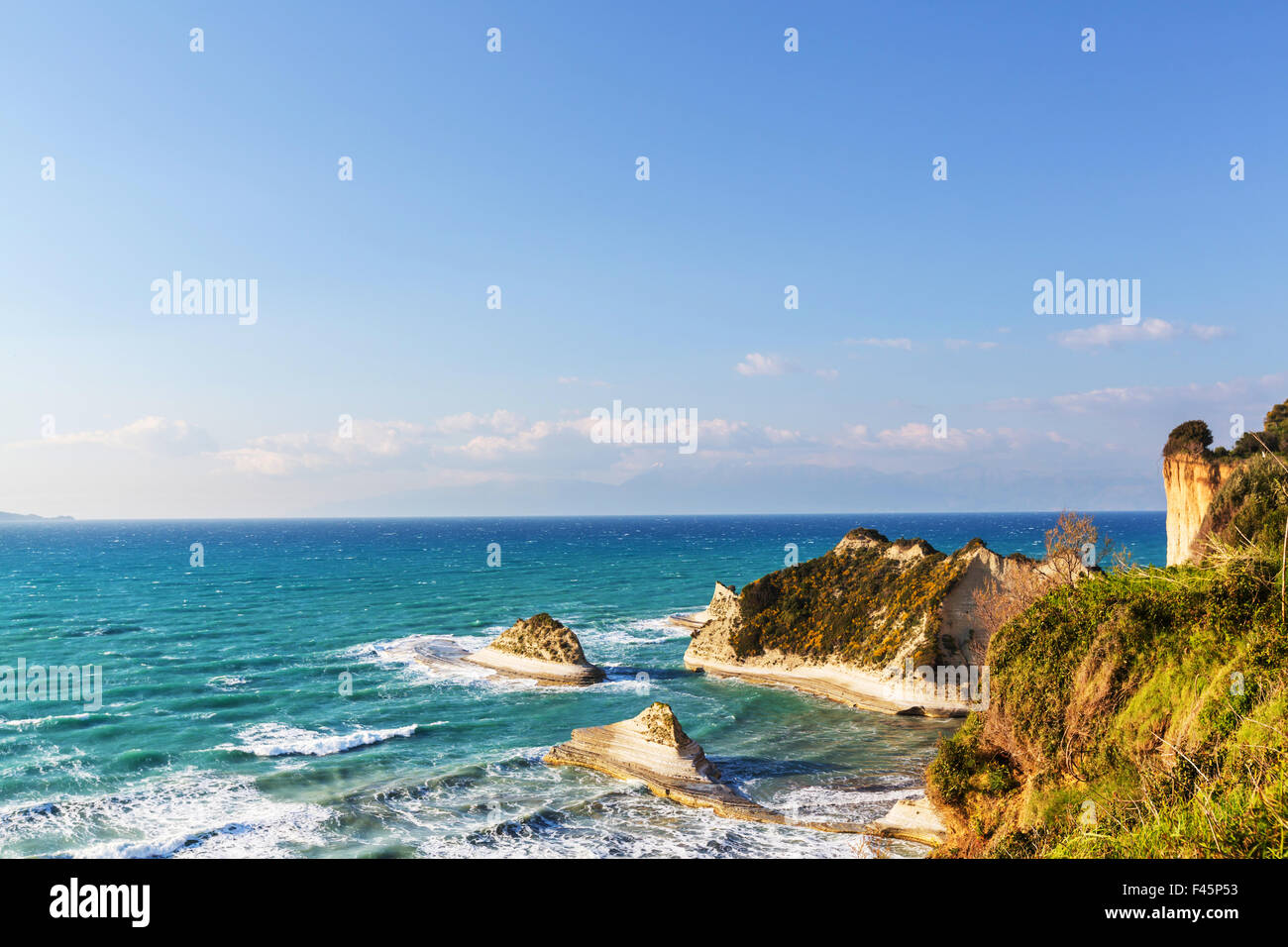 Corfu coast Stock Photo