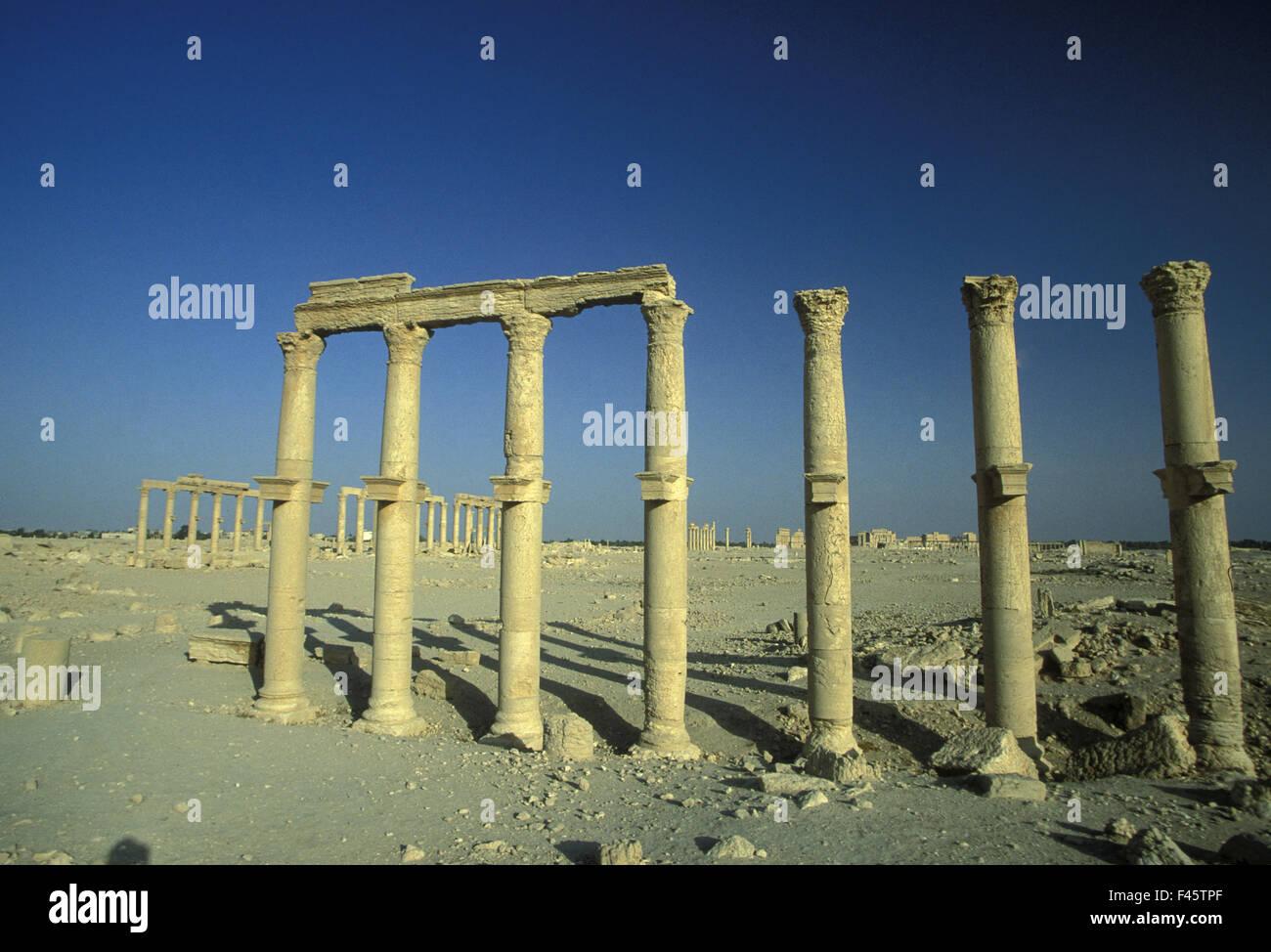 SYRIA PALMYRA ROMAN RUINS - Stock Image