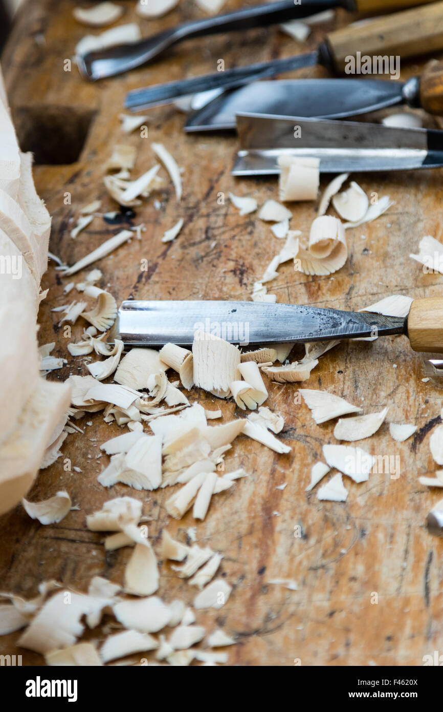 woodworking tools - Stock Image