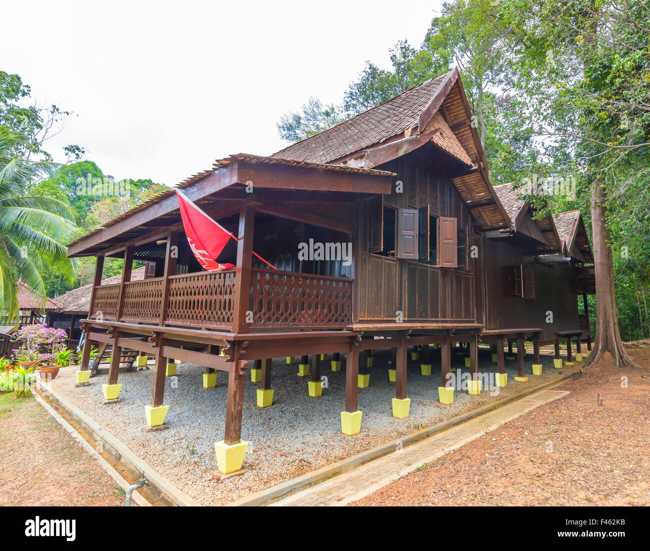 impactful wooden house in malaysia park