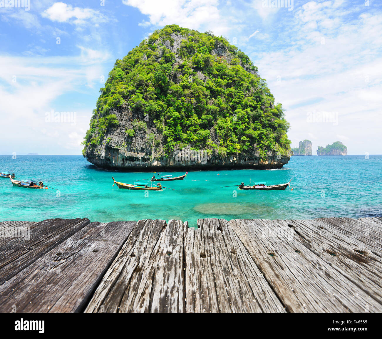Uninhabited island - Stock Image