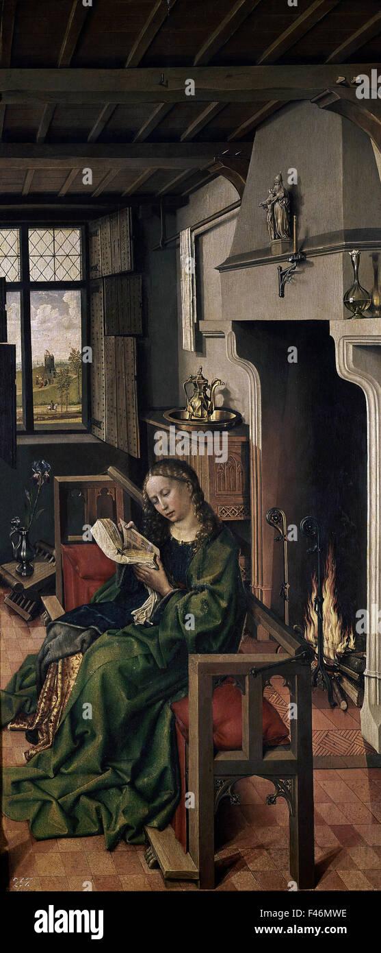 Robert Campin - St Barbara - 1438 - Prado museum Madrid - Stock Image