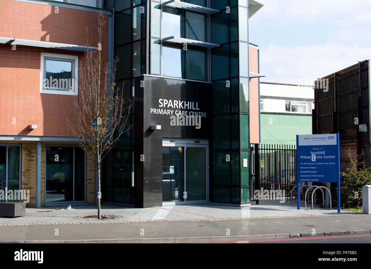 Sparkhill Primary Care Centre, Birmingham, West Midlands, UK - Stock Image