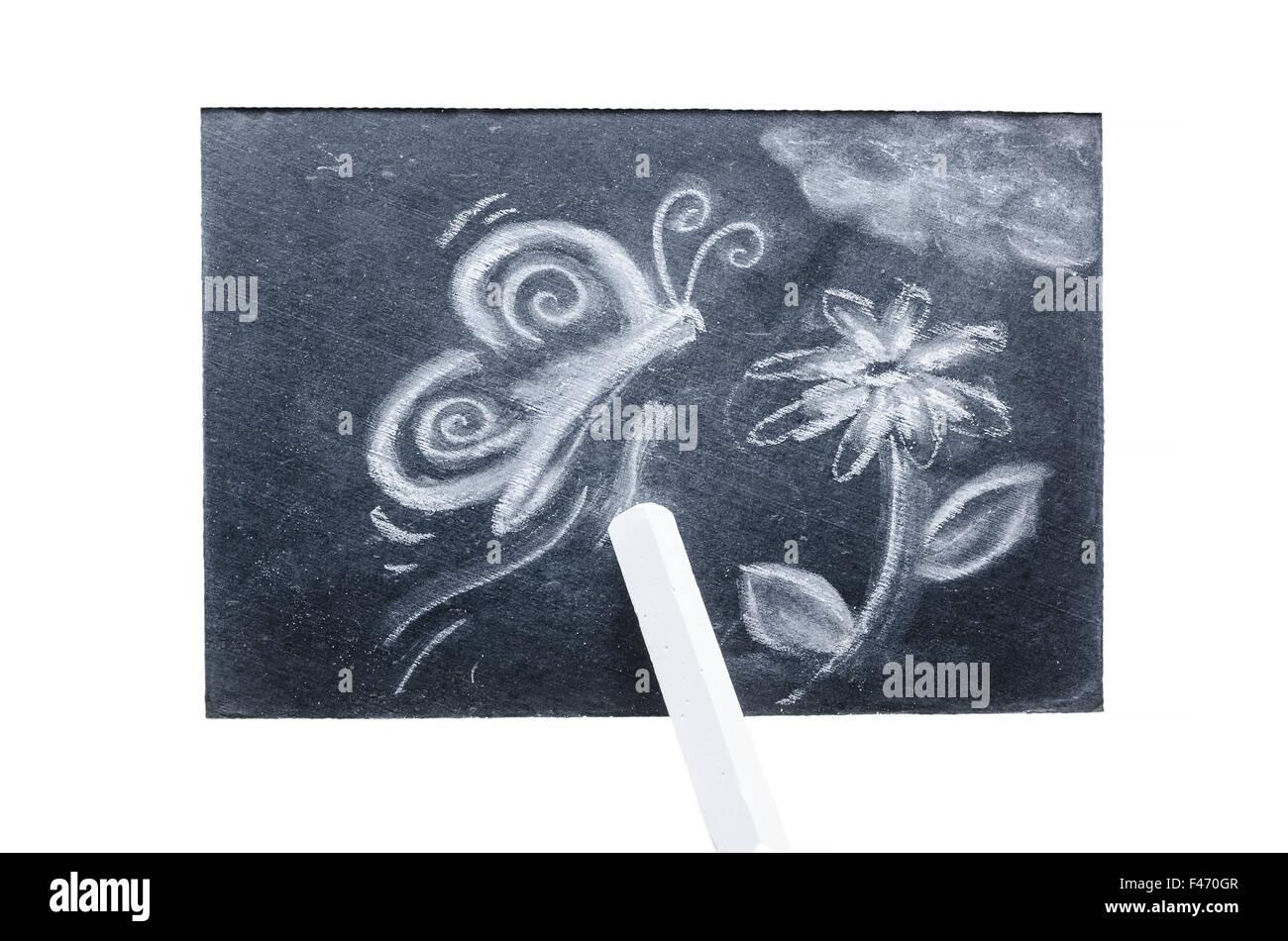 Chalk drawing - Stock Image