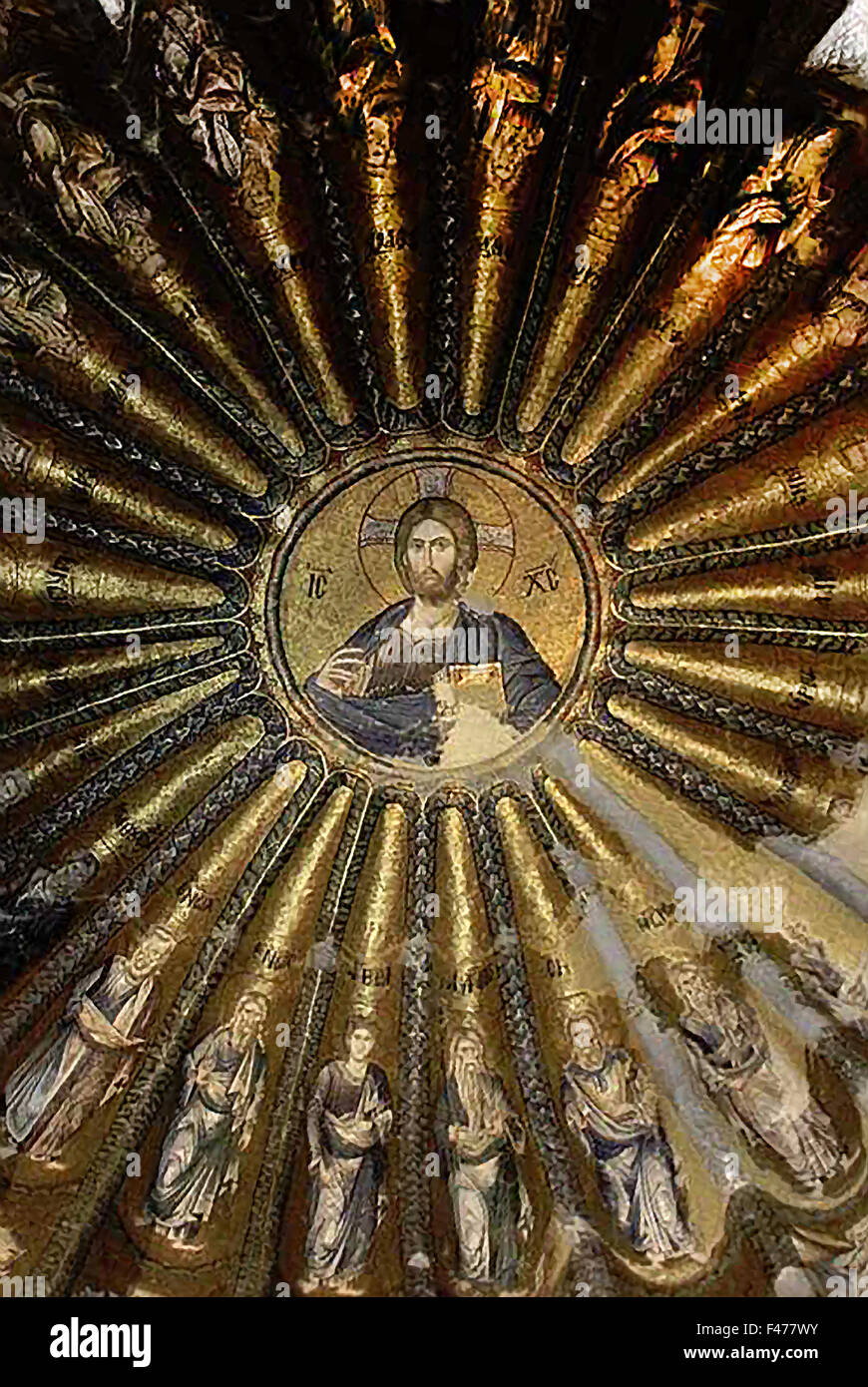 5785. JESUS, 13TH. C. MOSAIC FROM THE BYZANTINE CHURCH CHORA IN ISTAMBUL - Stock Image