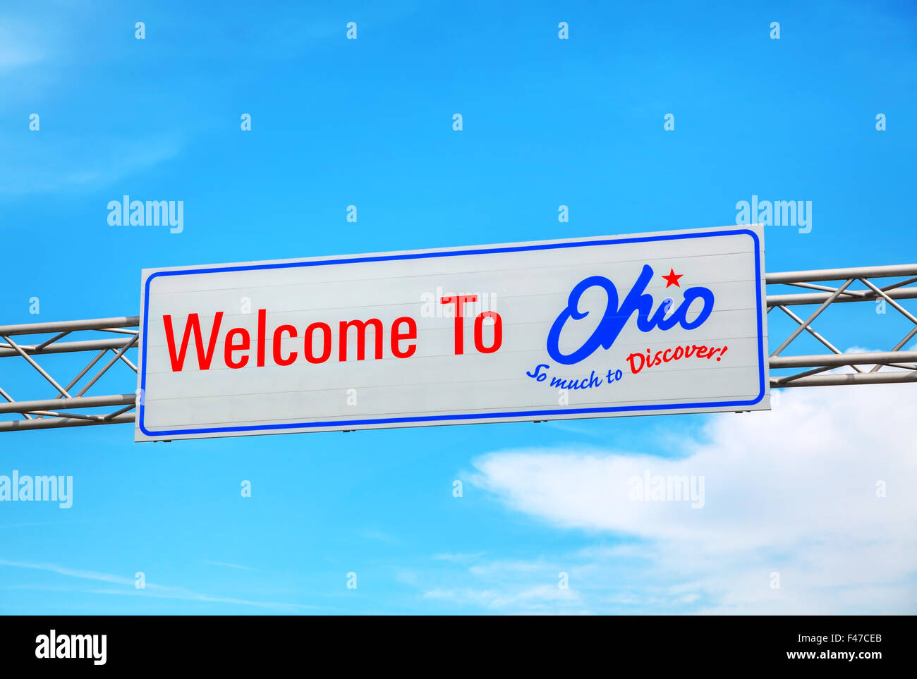 Welcome to Ohio sign - Stock Image