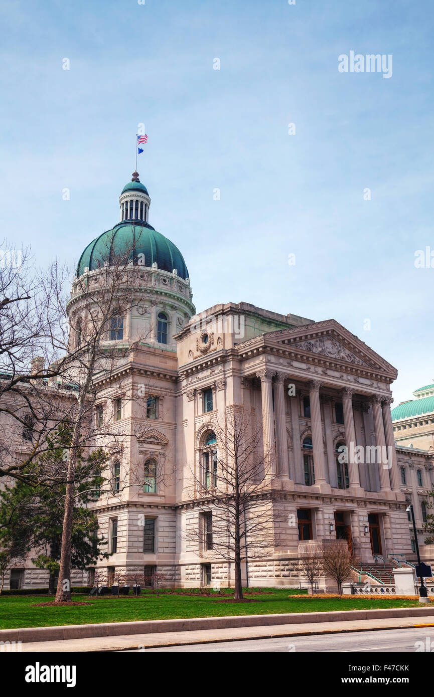 Indiana state capitol building - Stock Image