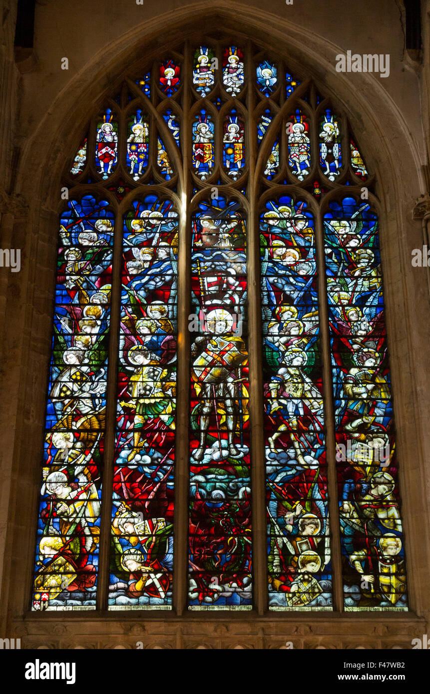 The St. George / Saint George stained glass window at ...