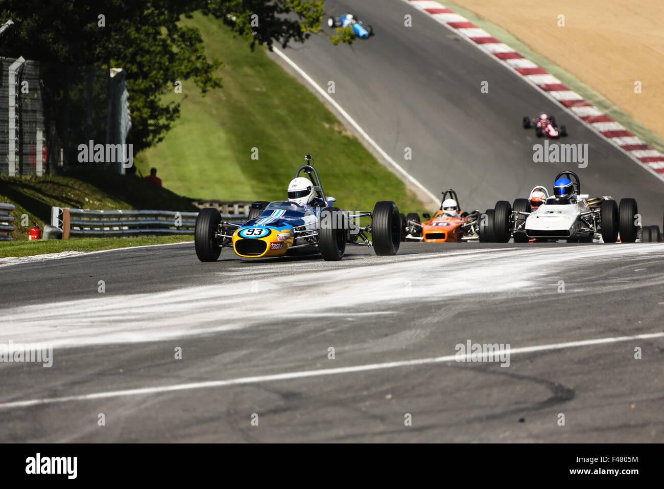 Formula 3 racing at Brands Hatch, England - Stock Image
