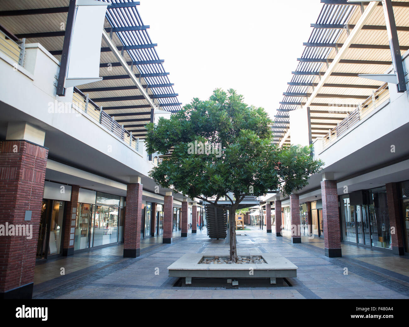 Courtyard of a shopping centre - Stock Image