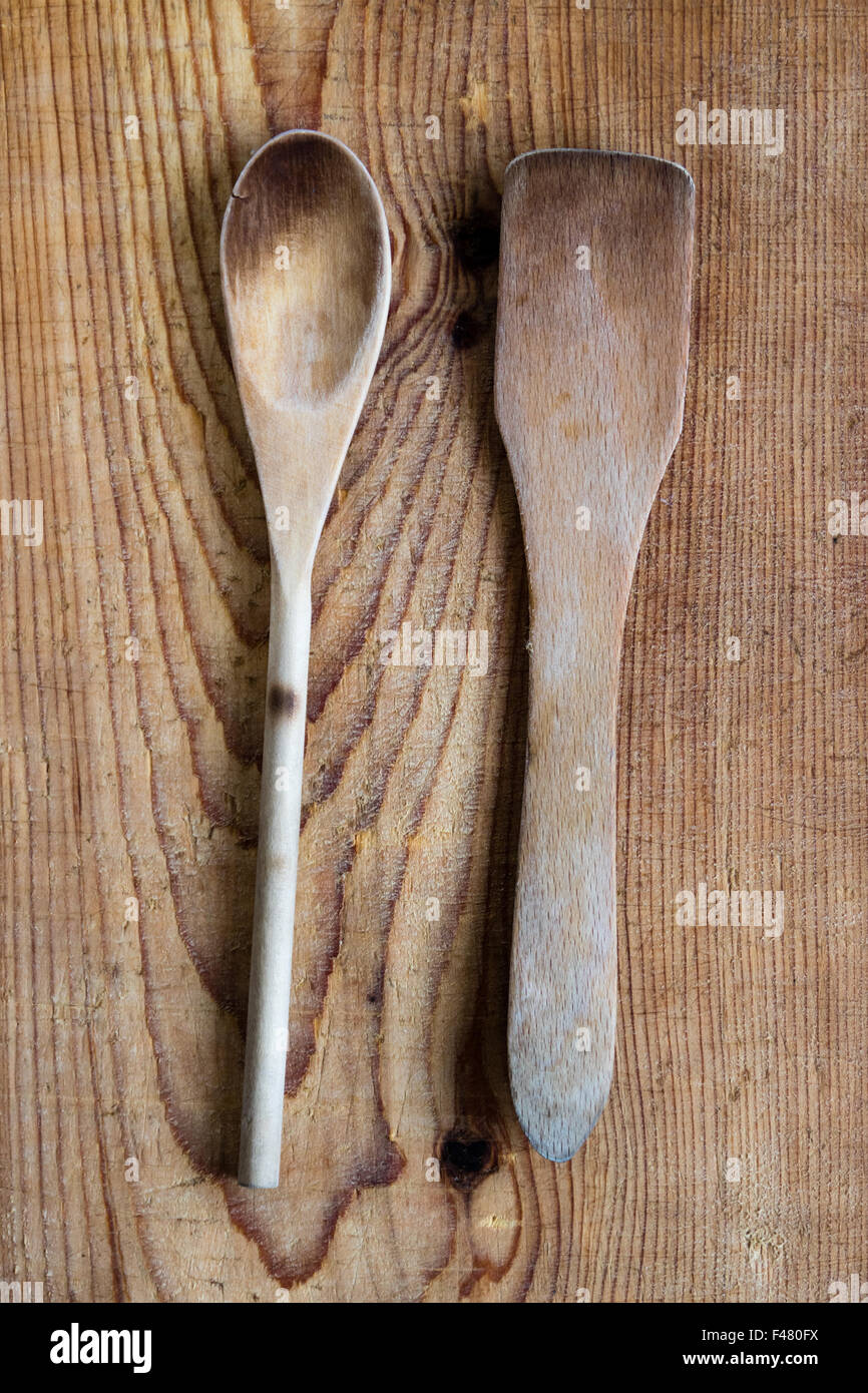 spoon and spatula - Stock Image