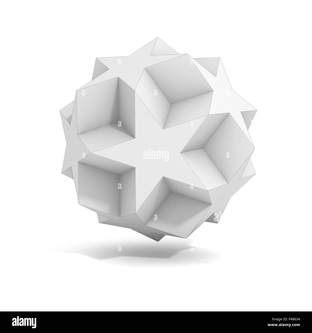 abstract geometric 3d object, more polyhedron variations in this set - Stock Image