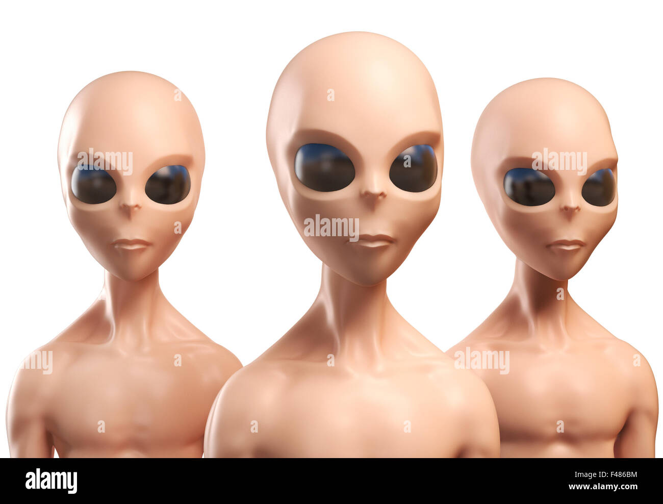 Aliens 3d illustration - Stock Image