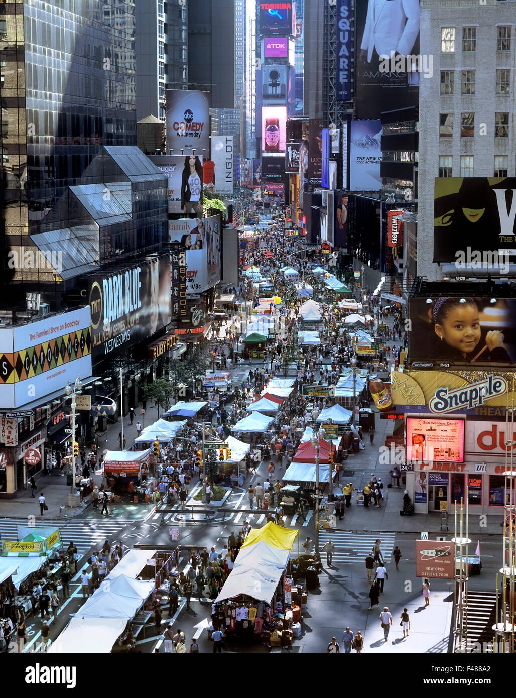 A Sunday morning street market on Broadway, New York City  Times