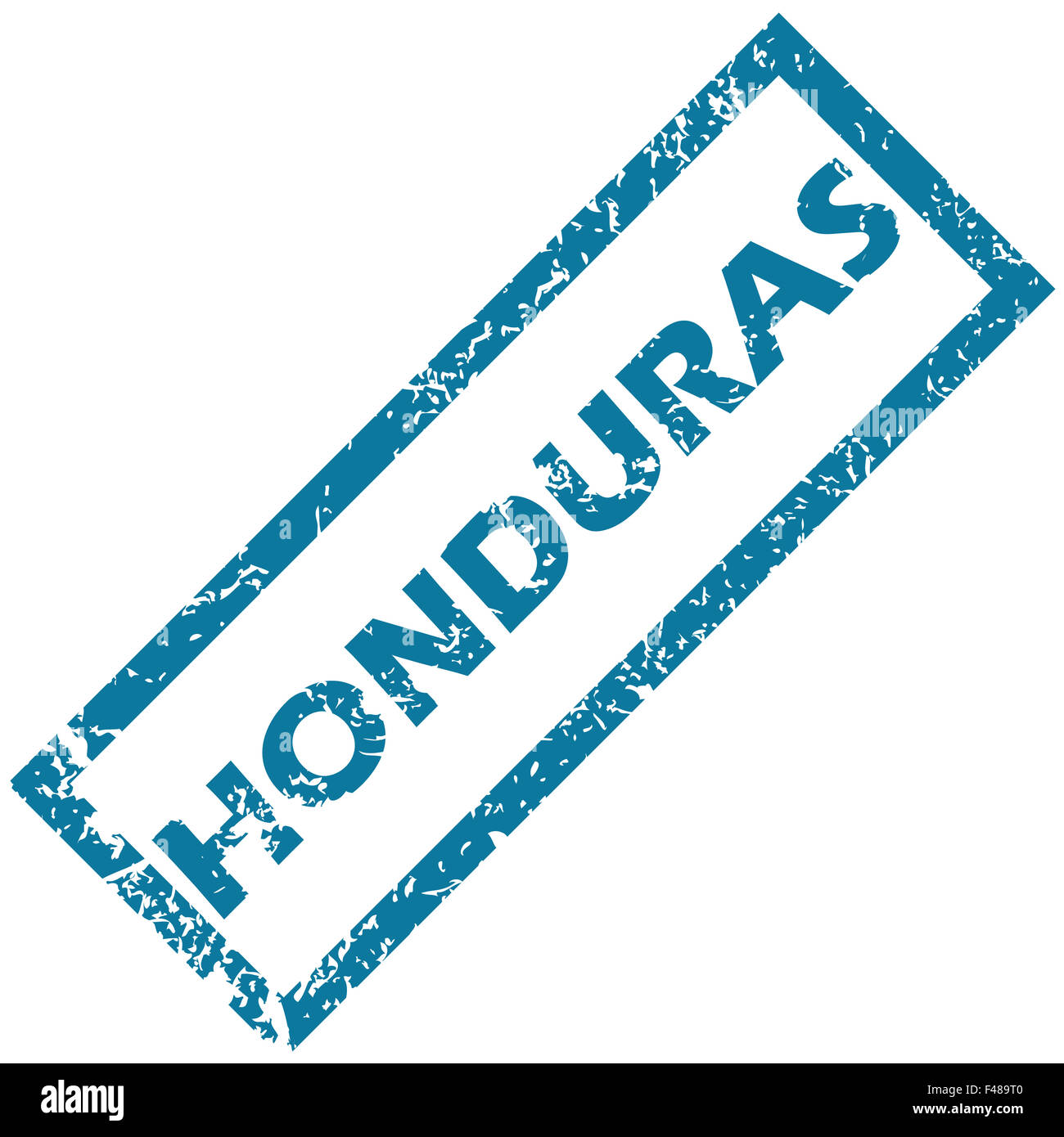 Honduras rubber stamp Stock Photo